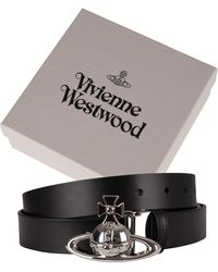 Vivienne Westwood Orb Buckle Leather Belt - Black