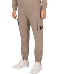 Calvin Klein Cargo Badge Fleece Sweatpants - Multicolor