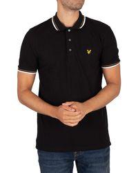 Lyle & Scott Tipped Polo Shirt - Black