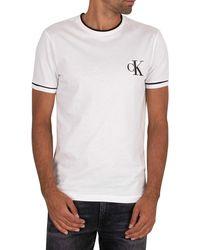 Calvin Klein Tipping Essential T-shirt - White