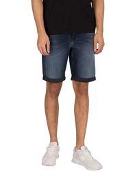 Calvin Klein Slim Denim Shorts - Blue