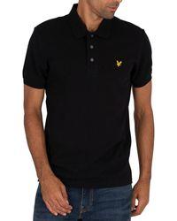 Lyle & Scott Logo Polo Shirt - Black