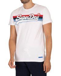 Superdry Vintage Logo Stripe T-shirt - White