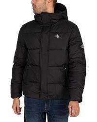 Calvin Klein Hooded Puffer Jacket - Black