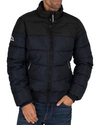 Superdry Track Sports Puffer Jacket - Blue