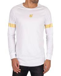 SIKSILK Longsleeved Tech T-shirt - White