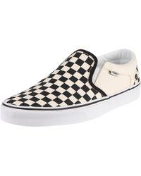 Vans Classic Slip On Shoe - /white Checkerboard - Black