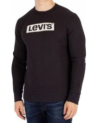 Levi's - Levis Men's Graphic Sweatshirt, Black Men's Sweatshirt In Black - Lyst