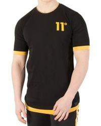 11 Degrees Black/zest Layered T-shirt