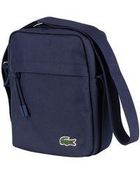 Lacoste Vertical Camera Shoulder Bag - Blue