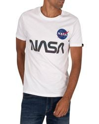 Alpha Industries Nasa Rainbow T-shirt - White