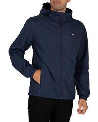 Tommy Hilfiger Packable Windbreaker Jacket - Blue