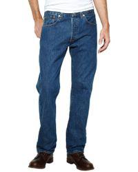 Levi's Stonewash 501 Original Fit Denim Jeans - Blue