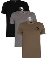 DIESEL 3 Pack Randal Lounge Crew T-shirts - Green