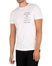 Tommy Hilfiger Logo List T-shirt - White
