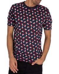 Fila Adam Aop T-shirt - Blue