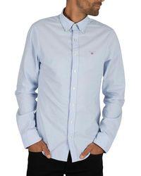 GANT Button Down Oxford Shirt - Blue