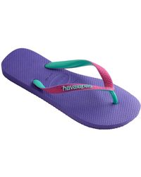 Havaianas - Purple/raspberry Top Mix Flip Flops - Lyst