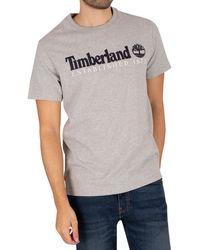 Timberland Oa Linear T-shirt - Grey