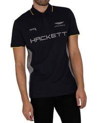 Hackett Aston Martin Racing Polo Shirt - Blue