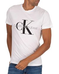Calvin Klein Iconic Monogram T-shirt - White