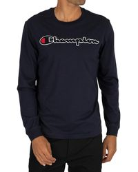 Champion Graphic Longsleeved T-shirt - Blue
