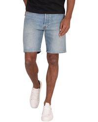 Levi's 501 Hemmed Denim Shorts - Blue