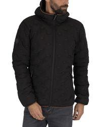 Superdry Woven Quilt Jacket - Black