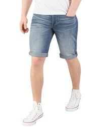 G-Star RAW - Medium Aged 3301 Denim Shorts - Lyst
