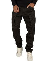 G-Star RAW Rovic Zip 3d Straight Tapered Cargos - Black