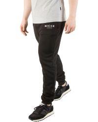 Nicce London Black Original Logo Sweatpants
