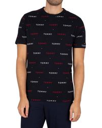 Tommy Hilfiger Lounge Printed T-shirt - Blue