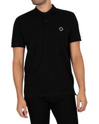 MA.STRUM Pique Polo Shirt - Black