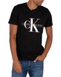 Calvin Klein Iconic Monogram T-shirt - Black