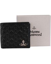 Vivienne Westwood George Man Billfold Leather Wallet - Black