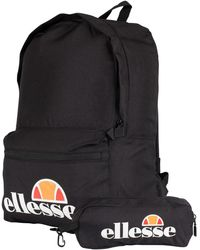 Ellesse Men's Rolby Backpack Pencil Case, Black Men's Backpack In Black