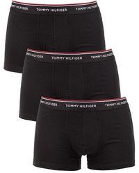 Tommy Hilfiger 3 Pack Premium Essentials Trunks - Black
