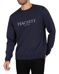 Hackett Crew Sweatshirt - Blue