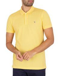 GANT Original Slim Pique Rugger Polo Shirt - Yellow