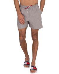 Tommy Hilfiger Medium Drawstring Swimshorts - Gray