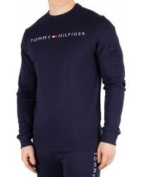 Tommy Hilfiger Men's Graphic Sweatshirt, Blue Men's Sweatshirt In Blue