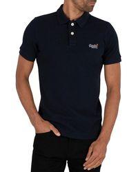 Superdry Classic Pique Polo Shirt - Blue