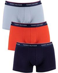 Tommy Hilfiger 3 Pack Premium Essentials Trunks - Blue
