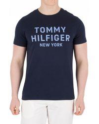 Tommy Hilfiger - Navy Blazer Dashing Graphic T-shirt - Lyst