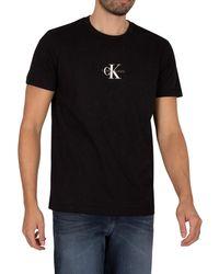 Calvin Klein Small Chest Monogram T-shirt - Black