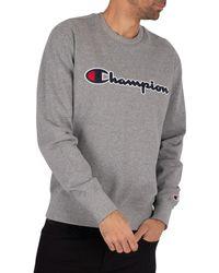 Champion Side Logo Sweatshirt - Gray
