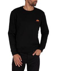 Alpha Industries Basic Logo Sweatshirt - Black