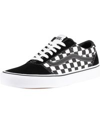 Vans Ward Chequered Trainers - Black