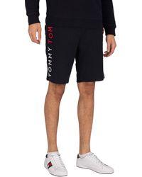 Tommy Hilfiger Lounge Side Logo Sweat Shorts - Blue