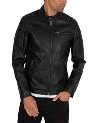 Jack & Jones Rocky Leather Jacket - Black